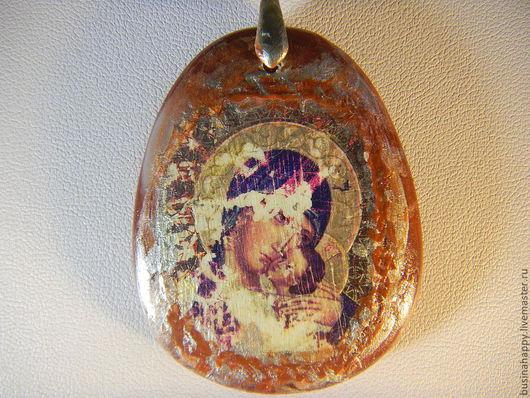 """Кулоны, подвески ручной работы. Ярмарка Мастеров - ручная работа. Купить Кулон """"Богородица"""". Handmade. Кулон, талисман, натуральные камни"""