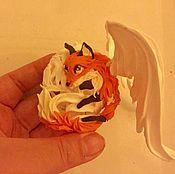 """Подарки к праздникам ручной работы. Ярмарка Мастеров - ручная работа фигурка """"пасхальное яйцо лисичка с крыльями ангела""""(Пасха подарок). Handmade."""