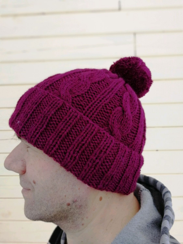 мужская вязаная шапка купить в интернет магазине на ярмарке