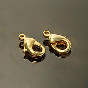 Материалы для творчества handmade. Livemaster - original item Lobster lock 12x6 mm gold plated South Korea (art. 2472). Handmade.