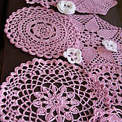 Для дома и интерьера handmade. Livemaster - original item Napkin (set of) Lilac garden. Handmade.