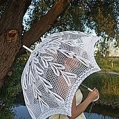 Аксессуары handmade. Livemaster - original item Umbrellas: Wedding umbrellas: Openwork umbrella-cane No. №7(large dome). Handmade.
