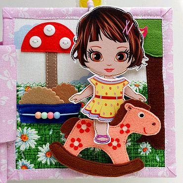 Куклы и игрушки ручной работы. Ярмарка Мастеров - ручная работа Кукольный домик для малышки с пляжем и детской площадкой. Handmade.
