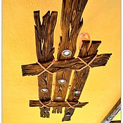 """Для дома и интерьера ручной работы. Ярмарка Мастеров - ручная работа Люстра из дерева """"Деревенская"""". Handmade."""