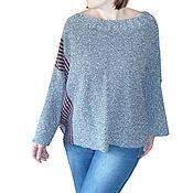 Одежда ручной работы. Ярмарка Мастеров - ручная работа Готовая работа : Лёгкий свитер Большой размер. Handmade.