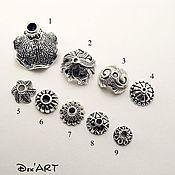 Материалы для творчества handmade. Livemaster - original item Bead caps in stock Art. ShB03. Handmade.
