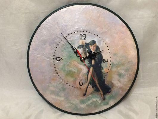 """Часы для дома ручной работы. Ярмарка Мастеров - ручная работа. Купить Часы """" В стиле ретро"""". Handmade."""