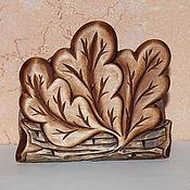 """Для дома и интерьера ручной работы. Ярмарка Мастеров - ручная работа Салфетница """"Листья"""". Handmade."""