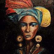 Картины и панно ручной работы. Ярмарка Мастеров - ручная работа Портрет (африканка). Handmade.