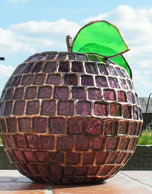 """Элементы интерьера ручной работы. Ярмарка Мастеров - ручная работа. Купить """"Яблоко 3D"""". Handmade. Тиффани, фен-шуй"""