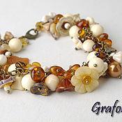 Украшения handmade. Livemaster - original item Amber bracelet with pendants. Handmade.