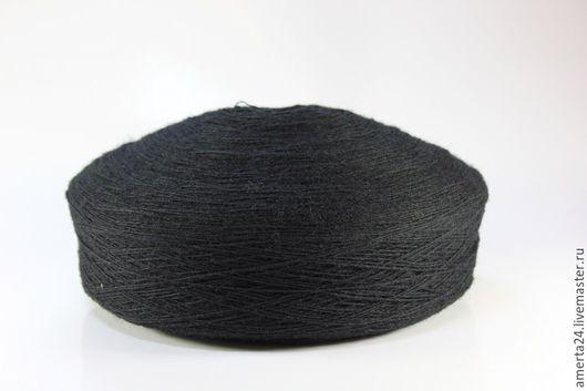 Вязание ручной работы. Ярмарка Мастеров - ручная работа. Купить Ангора в мотках черная, вес 500-600 гр. Handmade.