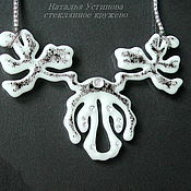Украшения handmade. Livemaster - original item glass necklace north legend, glass fusing. Handmade.