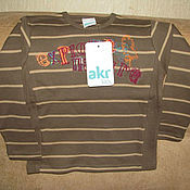 Винтаж handmade. Livemaster - original item Vintage clothing: T shirt brown long sleeve size104. Handmade.