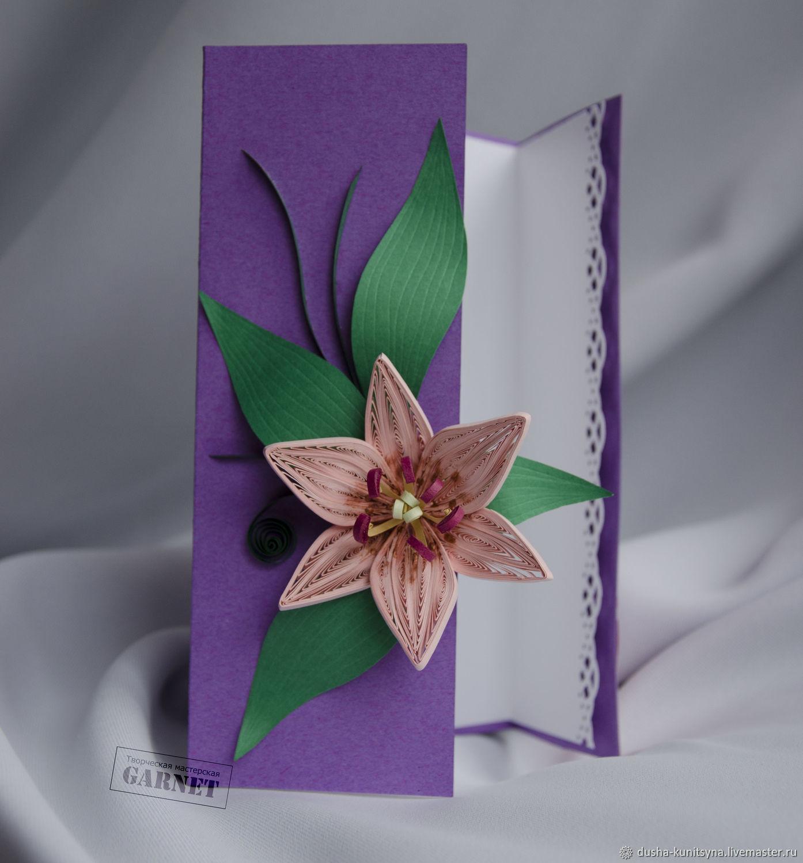 Квиллинг открытка с лилиями, картинки красивые картинки