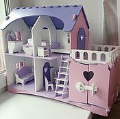 """Кукольные домики ручной работы. Ярмарка Мастеров - ручная работа Кукольный домик  """"Анютка"""" с мебелью. Handmade."""