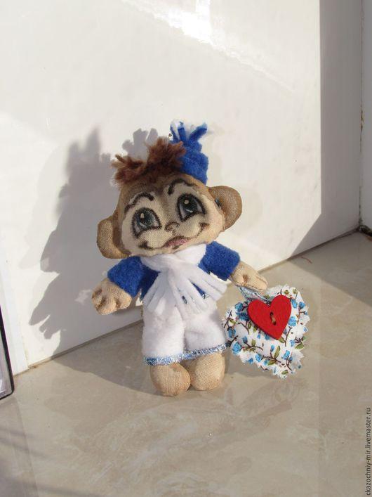 Ароматизированные куклы ручной работы. Ярмарка Мастеров - ручная работа. Купить Мимишная обезьянка - мальчик Тоша. Handmade.