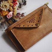 Сумки и аксессуары handmade. Livemaster - original item Wallet womens leather Sand. Handmade.