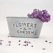 Цветы и флористика handmade. Livemaster - original item Pot for plants FLOWERS and oval GARDEN, concrete. Handmade.