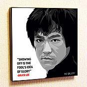 Подарки к праздникам handmade. Livemaster - original item Picture of Bruce Lee in the style of Pop Art. Handmade.