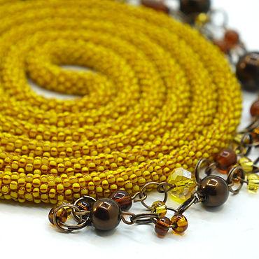 Decorations handmade. Livemaster - original item Lariats long beads Amber autumn. Handmade.