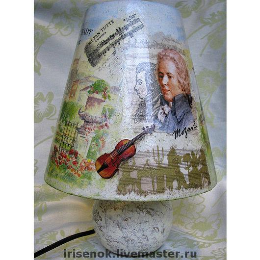 Lamps handmade. Livemaster - handmade. Buy 'The Salzburg Mozart', lamp.Lamp, decoupage, Salzburg, music