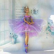 Куклы и игрушки handmade. Livemaster - original item Ballerina Doll Lilac Cloud Interior doll. Handmade.