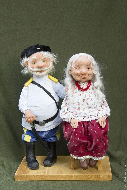 Коллекционные куклы ручной работы. Ярмарка Мастеров - ручная работа. Купить А казачка ждала своего казака.....!). Handmade.