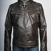 Мужская одежда handmade. Livemaster - original item Brown Leather jacket mens. Handmade.