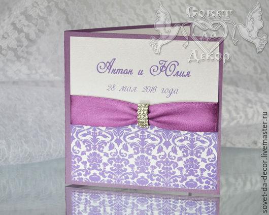 свадебные приглашения ручной работы приглашения на свадьбу свадебные приглашения купить свадебное приглашение с брошью