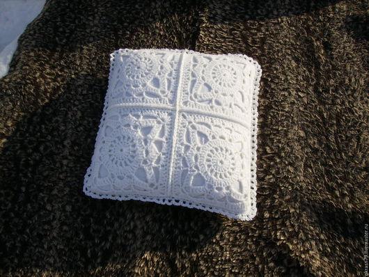 Текстиль, ковры ручной работы. Ярмарка Мастеров - ручная работа. Купить Наволочка вязанная. Handmade. Белый, подушка, наволочка декоративная