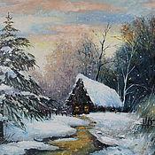 """Картины ручной работы. Ярмарка Мастеров - ручная работа Картина """"Домик в лесу"""". Handmade."""