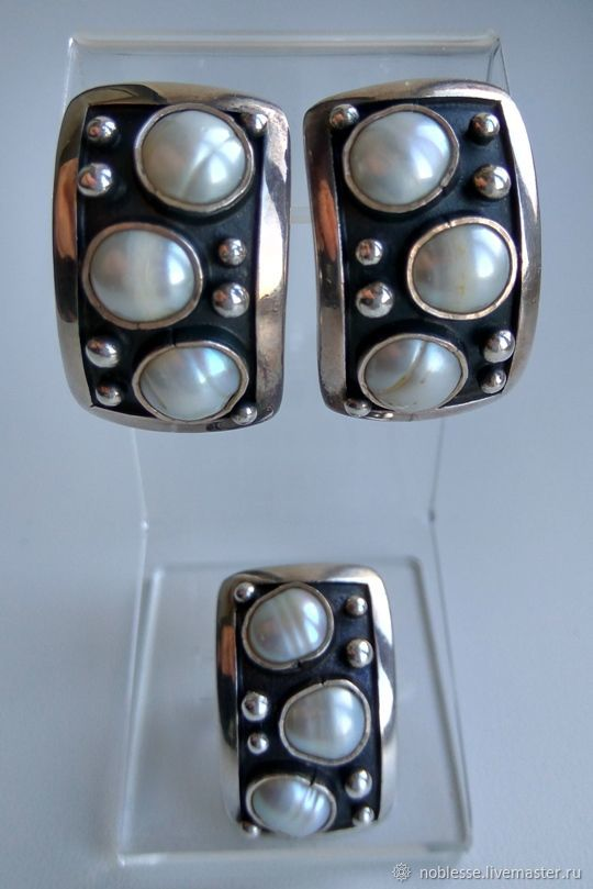 Комплект из серебра с жемчугом, Комплекты украшений, Самара,  Фото №1