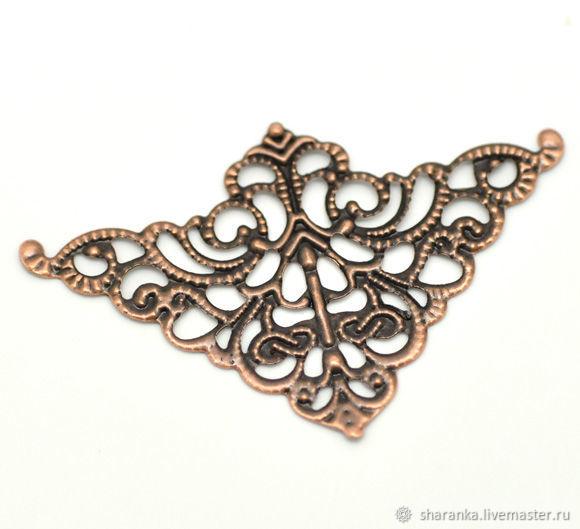 Filigree triangular connector Art. 1416, Beads1, Ivanovo,  Фото №1