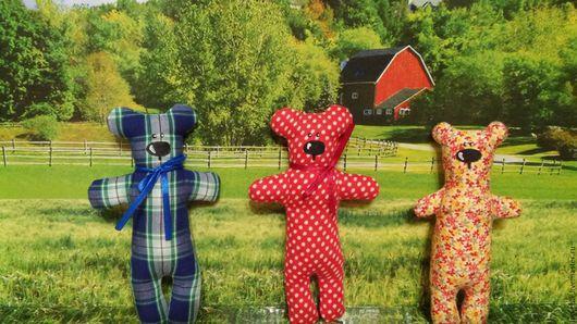 Игрушки животные, ручной работы. Ярмарка Мастеров - ручная работа. Купить Текстильные медвежата. Handmade. Ручная работа handmade, медвежонок