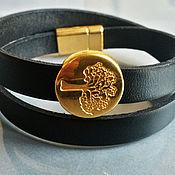 "Украшения handmade. Livemaster - original item Leather bracelet ""Black  tree"". Handmade."