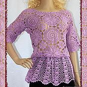 Одежда handmade. Livemaster - original item Crocheted lilac blouse.. Handmade.