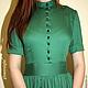 Платья ручной работы. Длинное платье. Ксения Gleamnight. Ярмарка Мастеров. Зеленое платье, лето 2015