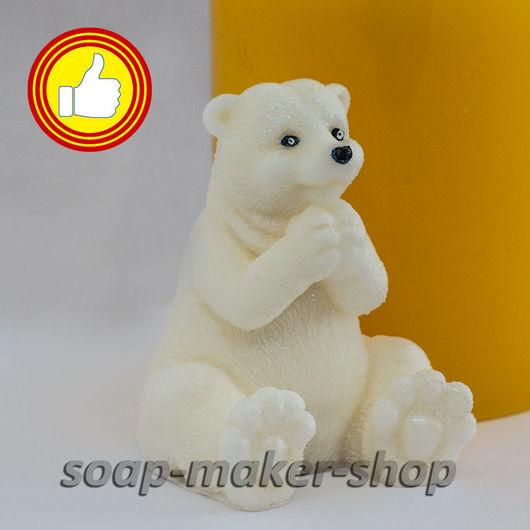 Материалы для косметики ручной работы. Ярмарка Мастеров - ручная работа. Купить Силиконовая форма для мыла «Белый мишка 3D». Handmade.