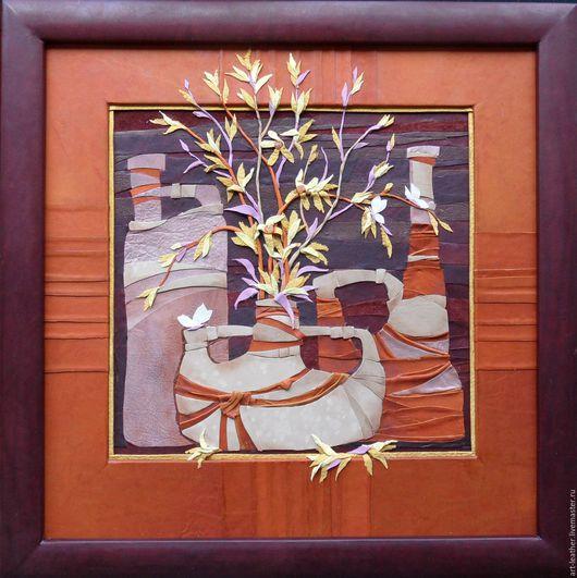 """Натюрморт ручной работы. Ярмарка Мастеров - ручная работа. Купить """"Весенний натюрморт"""". Handmade. Весна, натюрморт, желтый, вазы"""