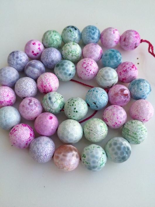 Для украшений ручной работы. Ярмарка Мастеров - ручная работа. Купить Агат разноцветный бусины 10 мм огранка. Handmade.