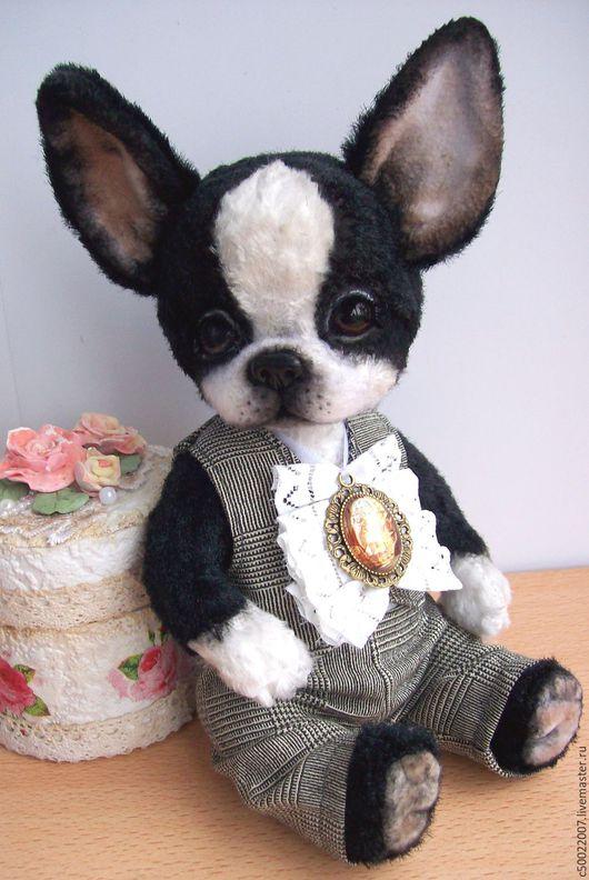 Мишки Тедди ручной работы. Ярмарка Мастеров - ручная работа. Купить Тедди щенок Бобби.Бостон терьер. Handmade. собака