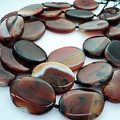 Материалы для творчества handmade. Livemaster - original item Agate large oval beads stones 42-43mm. Handmade.