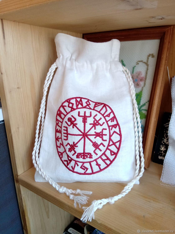 Bag Runny compass linen white, Bags, Pyatigorsk,  Фото №1