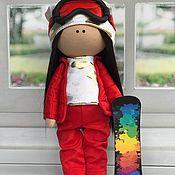 Куклы Тильда ручной работы. Ярмарка Мастеров - ручная работа Интерьерная кукла Сноубордистка. Handmade.
