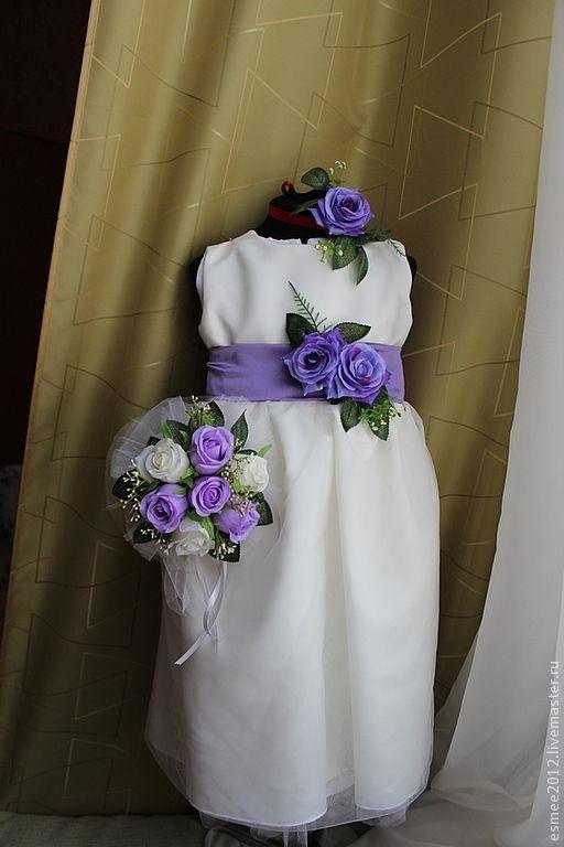 """Одежда для девочек, ручной работы. Ярмарка Мастеров - ручная работа. Купить Платье для девочки """" Shocking Blue для Леди"""". Handmade."""