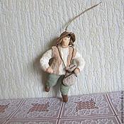 Подарки к праздникам ручной работы. Ярмарка Мастеров - ручная работа Пастушок.Ватные елочные игрушки. Handmade.