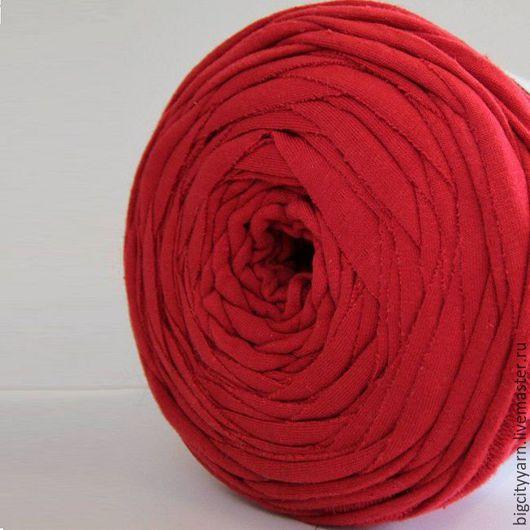 Вязание ручной работы. Ярмарка Мастеров - ручная работа. Купить Трикотажная пряжа. Цвет - Красный. Handmade. Пряжа для вязания