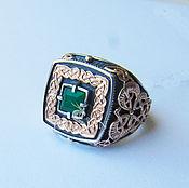Украшения handmade. Livemaster - original item Ring the gift of the Magi with green agate. Handmade.