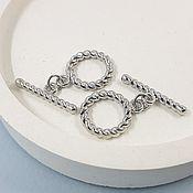 Материалы для творчества handmade. Livemaster - original item TOGGL twisted lock ring 15 mm rhodium plated (5401-R). Handmade.
